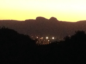 The glimmering lights of Paarl